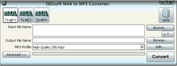 M4A to MP3 Converter, convert M4A files to MP3, Vista Supported