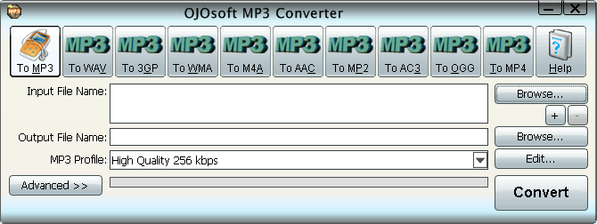 OJOsoft Converter 2.5.1.1121 والفيديو interface-mp3.png